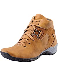 SGTS Tan Synthetic Leather Boot Shoes For Men's