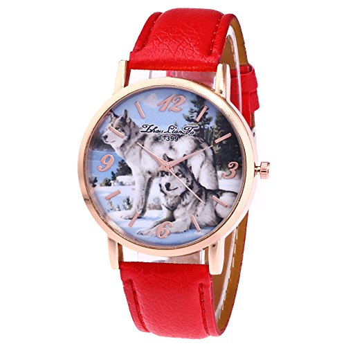 Armbanduhr Damen Ronamick Zhoulianfa Modische Gürtel Damenuhr Geschenk Mode Originalität Armband Armbanduhr Uhr Uhren(RD)