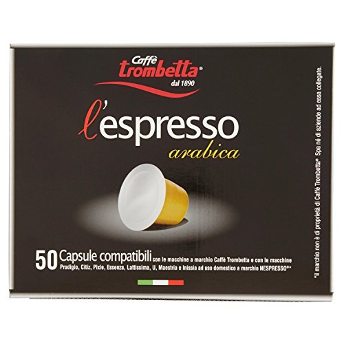 Caffè trombetta l'espresso arabica - confezione da 50 capsule