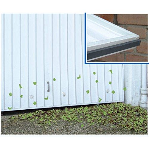 Wenko 7409500 Garagen-Schmutzfänger, selbstklebend, Gummi, 500 x 1,1 x 2 cm, schwarz - Garage Door Seal