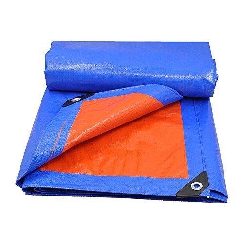 LFF- Plane wasserdichte Hochleistungs blau-orange Plane Blatt Outdoor-Mehrzweck-Sonnenschutz Plane (größe : 5X7m)