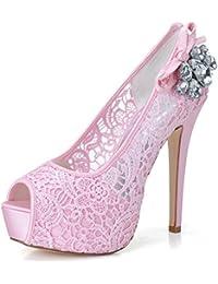 it Scarpe Rosa Pietre Con Sandali Amazon Borse E Swq6va
