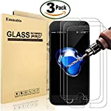 """[3 Pack] iPhone 8 / 7 Screen Protector, Emmabin 0.26mm 9H Tempered Shatterproof Glass Screen Protector Anti-Shatter Film for iPhone 8 / 7 4.7"""" Inch [3D Touch Compatible]"""