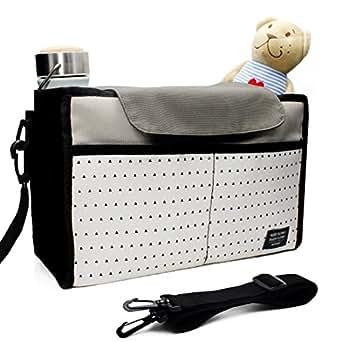 Passeggino Borsa Bag in Bag, Airlab Buggy Passeggino Organizer con coperchio e scomparti, impermeabile, Grigio