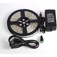 ALED LIGHT® Stiscia LED 5m SMD 300 LED 5050 BIANCO CALDO Of Light Strip Impermeabile Flessibile LED Con Alimentatore Incluso