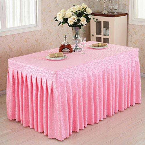 Küche Tischdecke Gepaßte Tisch-Rock-Abdeckung Hochzeits-Bankett mit Top-Topper Tischdecke -Pink Haken Blumen ( Farbe : Pink , größe : 40*120*75CM ) (Stickerei-overlay)