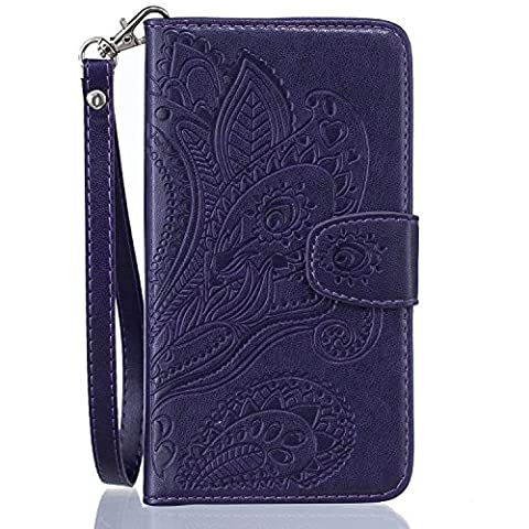 iPhone 6 / 6S Case, iPhone 6 / 6S Wallet Case,Cozy Hut Premium Soft PU Leather Notebook Wallet Cover Case with [Kickstand] Credit Card ID Slot Holder Magnetic Closure Fashion Vintage Peacock Flower Design Folio Flip Protective Slim Skin Cover for iPhone 6 / 6S -