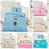 Biancheria da letto per bambini, 100x 135cm + 40x 60cm, 100% cotone per ragazzi e ragazze in diversi design, 100% cotone, Principe, 100 x 135 cm