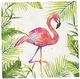 Servietten Flamingo, 33x33cm, 20 St.Pack, FSC, 3lagig, wiederverschließbare Packung