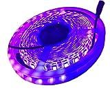 Luz Ultravioleta CORST 5m/16Ft 5050SMD 300LED impermeable 395-405nm UV Led Luz Negra NightLight DC12V