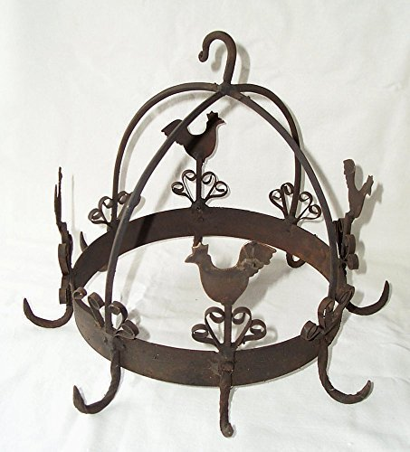 Wild corona, embutidos corona, hierbas corona, corona de cocina, grifo, hierro, marrón envejecido