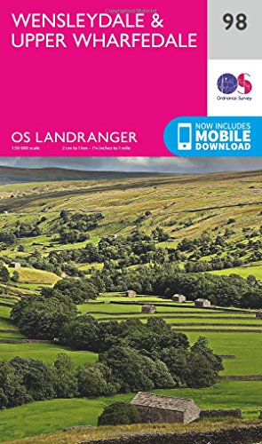 Price comparison product image OS Landranger Map 98 Wensleydale & Upper Wharfedale