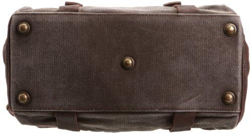 Feud Britannia Ritz Over Night Bag, Articles de voyage homme - noir / Tan - taille unique Marron-V.5