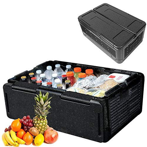 NOBGP Chill Chest Cooler, tragbare große Faltbare Isolierbox Lightweight Waterproof für Partys, Picknicks, Camping, Strand, Tailgating, Angeln, Jagd, Bootfahren