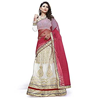 Shubhlaxmi Fashions Women's Embroidered Net Lehnga Choli