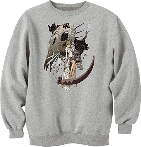 soul-eater-maka-albarn-anime-manga-sweatshirt-pullover-grau-s