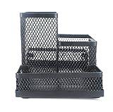 fablcrew lápices multifunción Pot Holder malla escritorio contenedor oficina escuela suministro negro 19x10x10.3cm 4 compartments