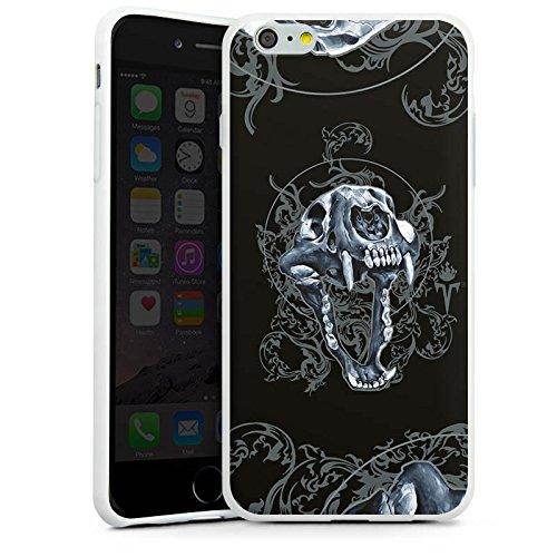 Apple iPhone X Silikon Hülle Case Schutzhülle Puma Totenkopf Pumakopf Silikon Case weiß