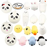 Amaza 17pcs Squishys Kawaii Squishy Juguetes Squishies Animales Slow Rrising Squeeze Kids Toy Gift (Multicolor) de Amaza