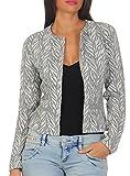Vero Moda Damen Strickjacke Cardigan Blazer Leichte Jacke (38 (Herstellergröße: M),Light Grey Melange)