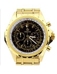 ORKINA PO004-S-Gold/Black - Reloj para hombres, correa de acero inoxidable color dorado
