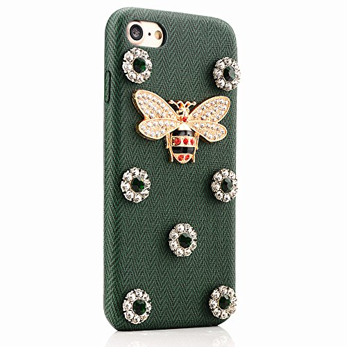 iPhone Handyhülle,Dewanxin iPhone6plus/6splus Handyhülle Einfach Retro Design 3D Kleine Pearl Bienen Protective Case Cover für iPhone 6 Plus iPhone 6s Plus (Vuitton Samsung Louis Fall)