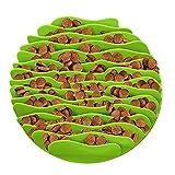 LA VIE Grün Napf Haustier Hunde Katzen Welpen Silikon Langsame Fütterung Napf Anti Schling Trinknapf Futternapf Langlebiger Futterschüssel Katzennapf Faltbar Reisenäpfe Auslaufsicher