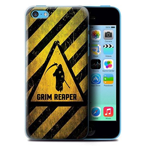 KOBALT® Hülle Case für Apple iPhone 5C | Hochspannung/Strom Entwurf | Warnung Zeichen Kollektion Tod/Sensenmann