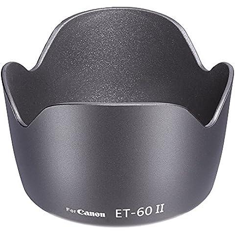 Neewer ET-60 II - Parasol para objetivo Canon EF 75-300 mm f/4.0-5.6, objetivos USM II, objetivos USM III y Canon EF-S 55-250 mm