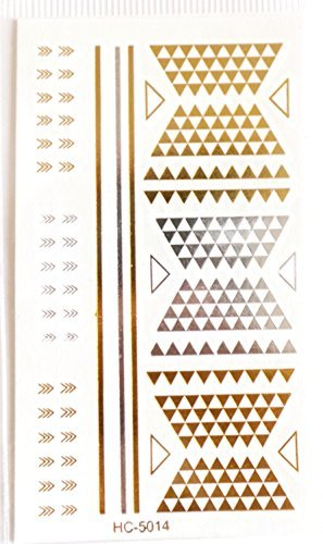 ref027-lt-124-tattoo-ephemere-gold-temporare-tatowierungen-gold-brett-ethnisches-motiv-dreiecke