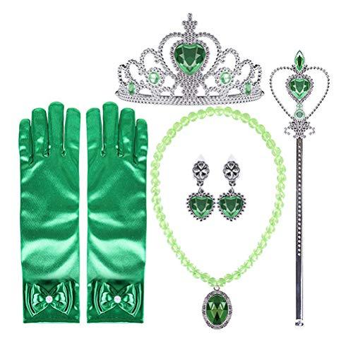 Knowooh Conjunto Princesa Hielo Accesorios Disfraces