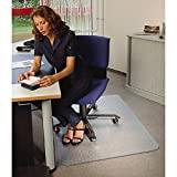 Floortex Bodenschutzmatte | Bürostuhlunterlage ultimat | 120 x 150 cm | aus Original Polycarbonat | transparent | rechteckig | TÜV zertifiziert | für nieder- & mittelflorige Teppichböden