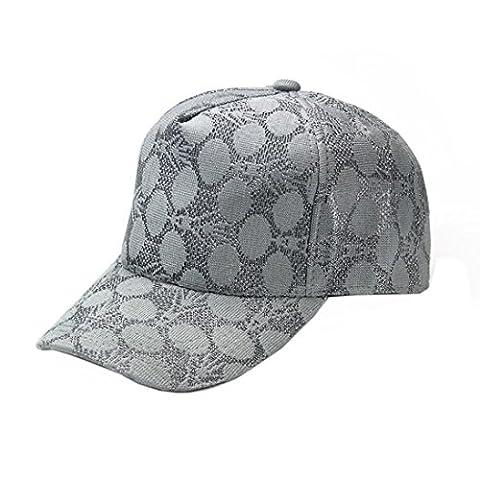 Spitze Baseball Kappe Holeider Kreis Muster justierbarer Hut Sport Sonne Kappe (Grau) (Kind Blau-ara-kostüm)