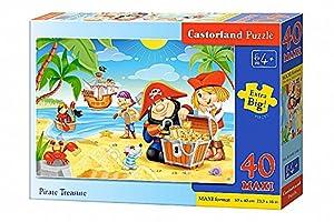 CASTORLAND Pirate Treasures 40 Maxi pcs Puzzle - Rompecabezas (Puzzle Rompecabezas, Dibujos, Niños, Niño/niña, 4 año(s), Interior)