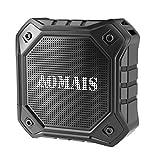 AOMAIS IPX7 -Altavoces inalámbricos Bluetooth, resistentes al agua, portátil, para deportes en exterior o ducha, con 10W de bajos mejorados, micrófono integrado para iPhone, iPad, iPod, Android …
