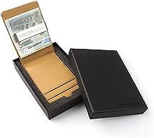 Distressed-Estuche para tarjetas de crédito con acero inoxidable de dinero/Pinza para billetes en caja de regalo