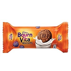 Cadbury Bournvita Pro Health Vitamins Chocolate Biscuits, 46.5 gm (Pack of 12)