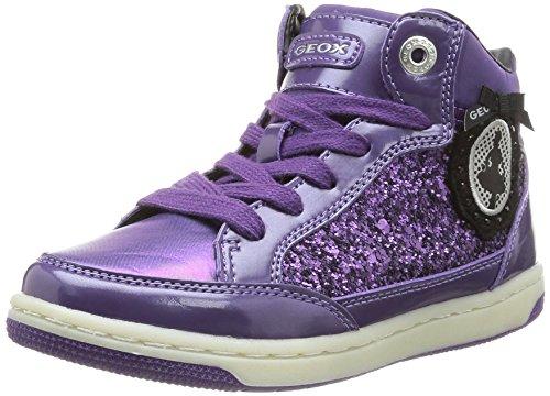 Geox JR CREAMY Mädchen Hohe Sneakers Violett (Violetc8015)