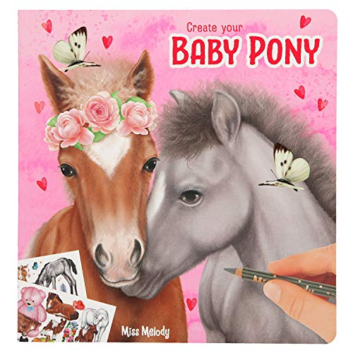 Depesche 10466 Malbuch Create Your Baby Pony, Miss Melody, ca. 21 x 20 x 1 cm, bunt