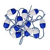 MagiDeal Kit de Divisor de Seguridad Cuerda Cinturón de Natación Piscina de 5,7m Flotación con Gancho de Zinc de Azul Deportes Acuáticos