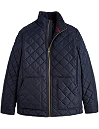 Joules Mens Retreat Quilted Suede Trim Fleece Lined Casual Jacket Coat