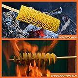 FaNTaSTiQu BBQ-90925 Jumbo XXL BBQ Grillspieße aus Bambus Ø 9mm, Die stärksten auf Amazon, geeignet für Lagerfeuer, Party, Würstchen grillen, Stockbrot, Steckerlfisch und vieles mehr - 4