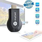 Twogood Anycast DLNA Airplay WiFi Display Miracast TV Dongle HDMI Multi-display 1080P Receiver AirMirror Mini Android TV Stick Suitable with all Android or Iphone Devices (1 Year Warranty,Assorted Colour)