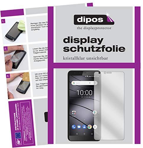 dipos I 2X Schutzfolie klar passend für Gigaset GS100 Folie Bildschirmschutzfolie