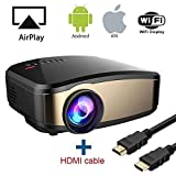 WiFi Video Beamer, HuiHeng Wireless Projektor Mini LCD Beamer Full HD...