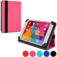 Funda tipo folio Infinite de Cooper Cases(TM) para tablets de Samsung Galaxy Tab 3 Lite 7.0 VE (Wi-Fi SM-T113) en Rosa (Compatibilidad universal, exterior en cuero sintético, soporte plegable, cierre con elástico)