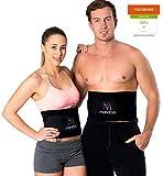 Premium Fitnessgürtel Set – inklusive Gratis Tragetasche und E-Book – hochwertiger Bauchweggürtel mit einzigartiger 3-Lagen Technologie – slimmer belt zum Abnehmen und Muskeln aufbauen