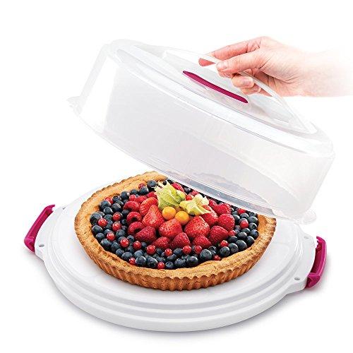 Metaltex 23518010080 Cloche à gâteaux ajustable/transportable Plastique Transparent 33,5 x 36,5 x 15 cm