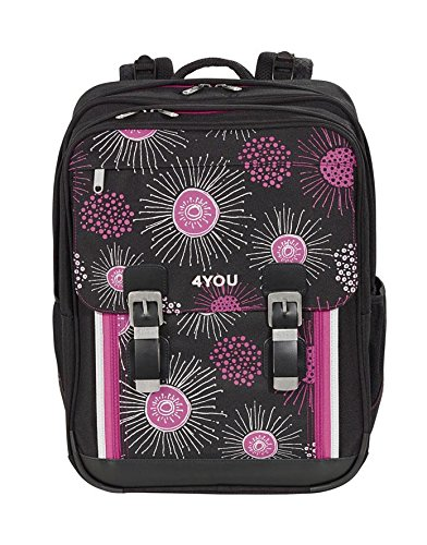 4You Flash Schulrucksack Classic Plus 342 XRay Flower 342 xray flower