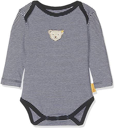 Steiff Baby-Jungen Formender Body, Blau (Black Iris 3032), 74 Black Baby-body